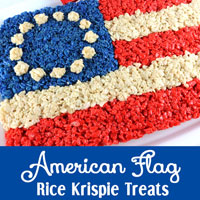American Flag Rice Krispie Treeats
