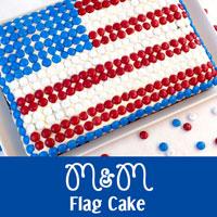 M&M Flag Cake