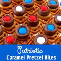Patriotic Caramel Pretzel Bites
