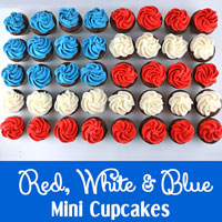 Red White and Blue Mini Cupcakes