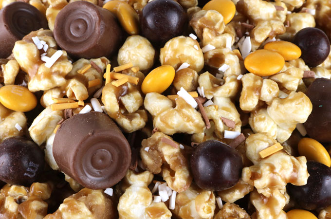 Add candy to the Chewie Chewy Star Wars Caramel Corn