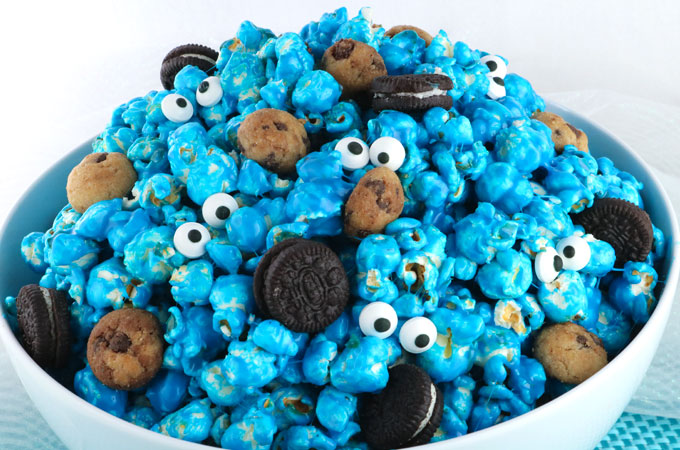 Cookie Monster Popcorn Two Sisters