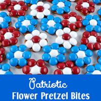 Patriotic Flower Pretzel Bites