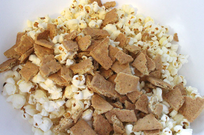 Add Crushed up Graham Crackers to Popcorn