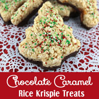 Chocolate Caramel Rice Krispie Treats