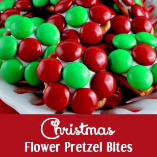 Christmas Flower Pretzel Bites
