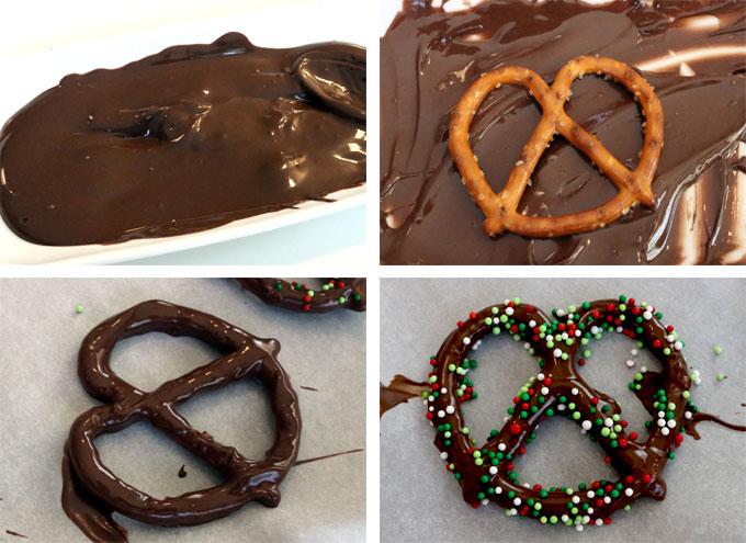 How to Make Homemade Chocolate Covered Pretzel Bites