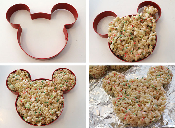 How to Make a Christmas Mickey Mouse Rice Krispie Treat