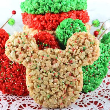 Christmas Mickey Mouse Rice Krispie Treats