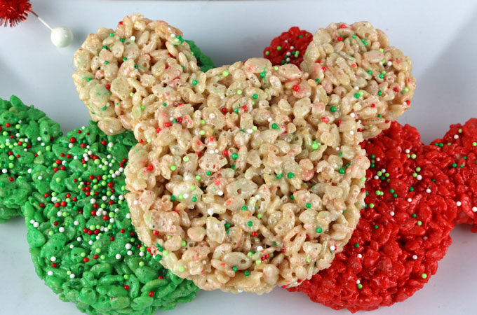 Rice Crispy Treat Christmas.Christmas Mickey Mouse Rice Krispie Treats Two Sisters