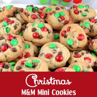 Christmas M&M Mini Cookies