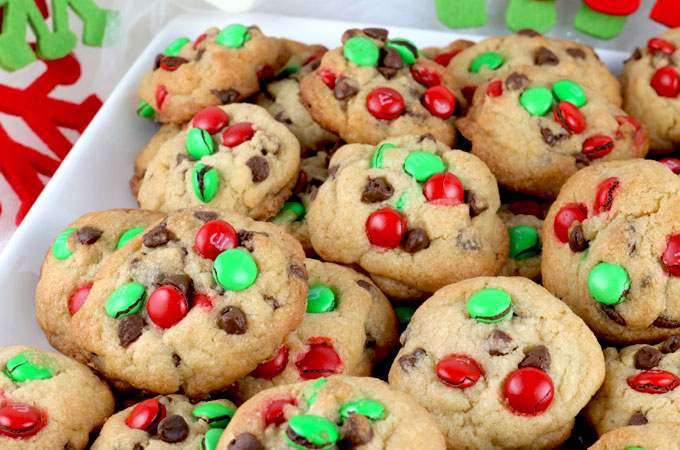 Christmas M M Mini Cookies