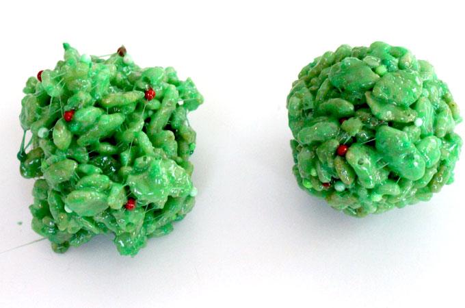 Create Christmas Rice Krispie Treat Bites