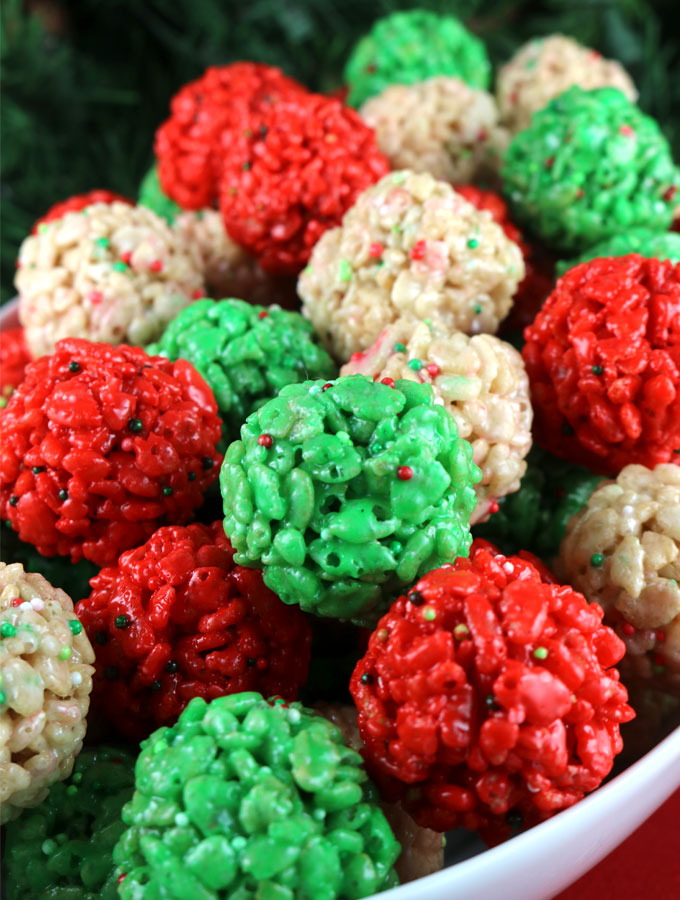 Christmas Rice Krispie Treat Bites - Two Sisters Crafting