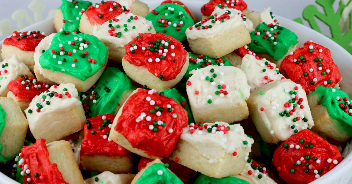 Christmas Sugar Cookie Bites Two Sisters