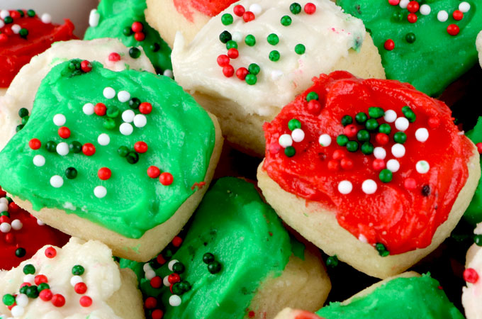 christmas sugar cookie bites these yummy christmas treats are so easy to decorate that even - Decorations For Christmas Sugar Cookies
