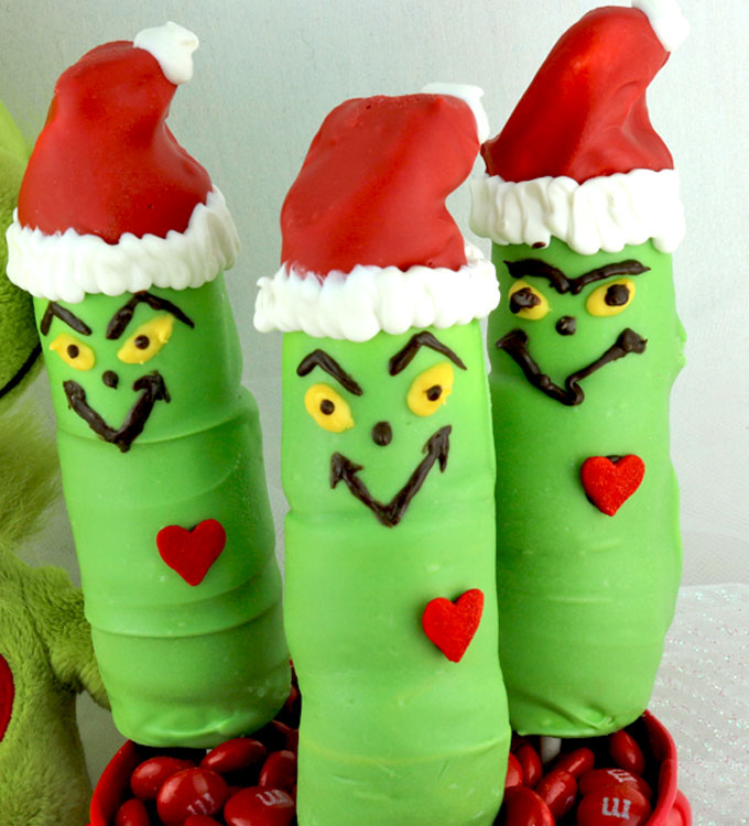 grinch marshmallow pops a fun christmas treat these the grinch shaped candy coated marshmallows