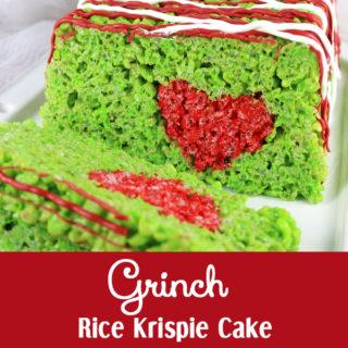 Grinch Rice Krispie Cake