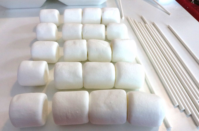 Getting the marshmallows ready