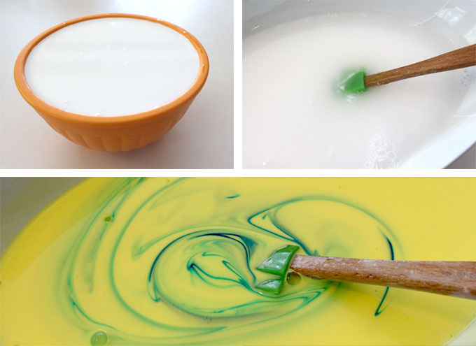 Step one to make Bewitched DIY Slime