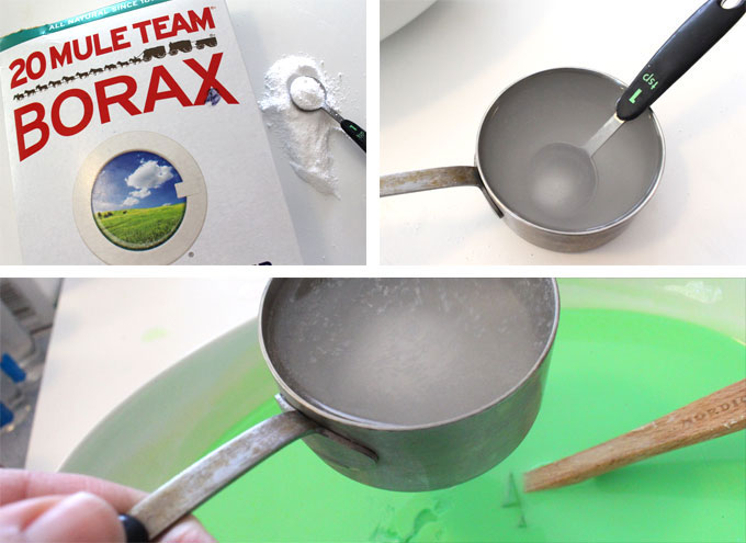 Add the Borax to the Bewitched DIY Slime