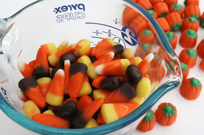 Sorting the Autumn Mix Candy Corn Candy