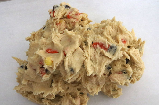 Mix the Candy Corn into the cookie dough