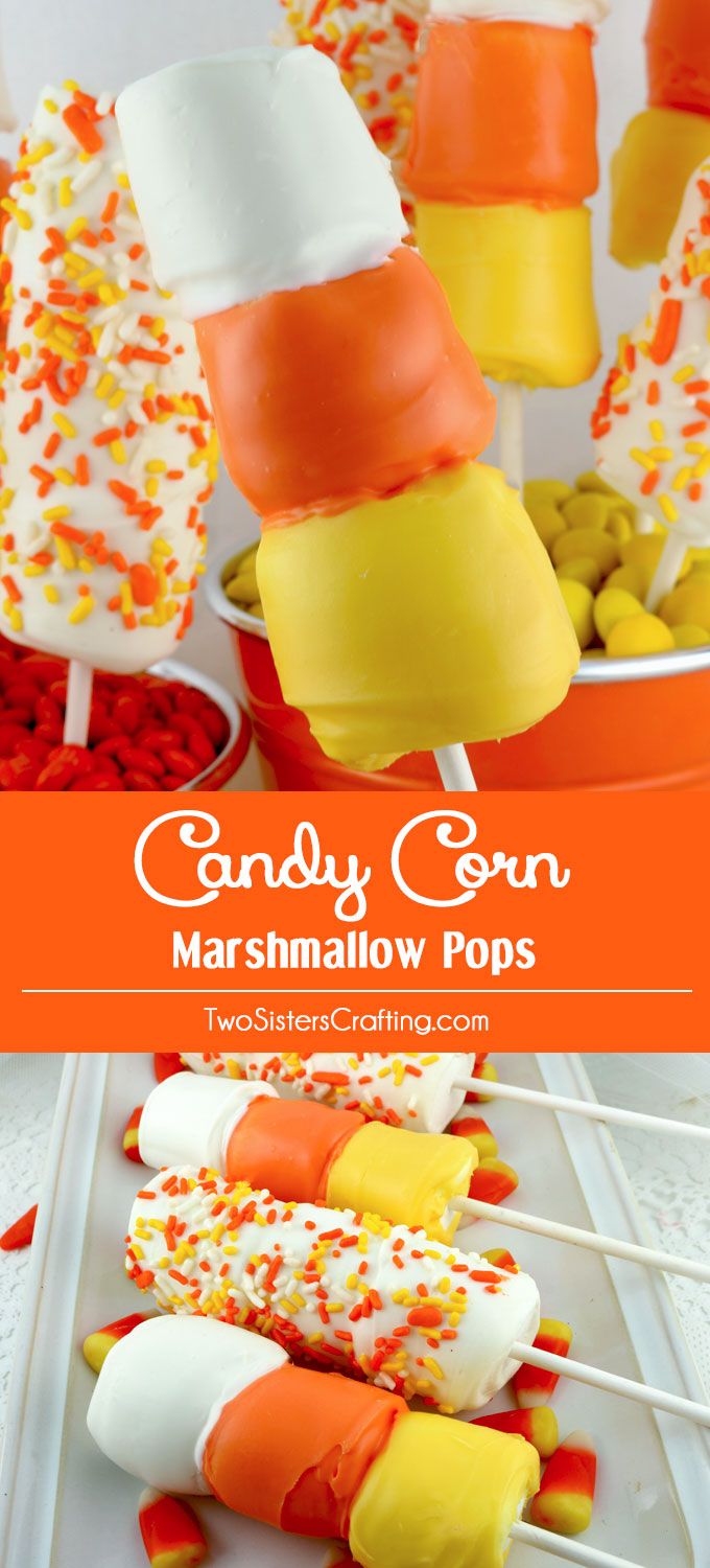 candy corn marshmallow pops two sisters