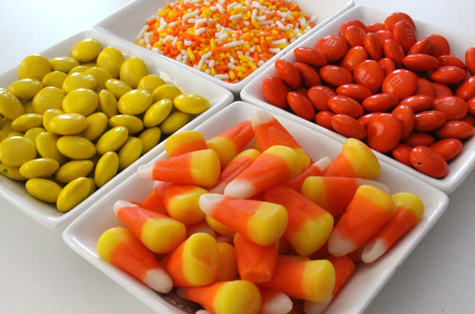 Candy Mix-Ins for Fall Candy Corn Popcorn
