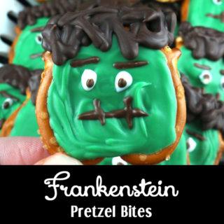 Frankenstein Pretzel Bites