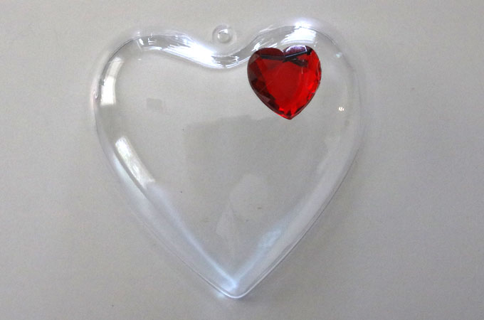 Plastic Heart Container for the Grinch Slime