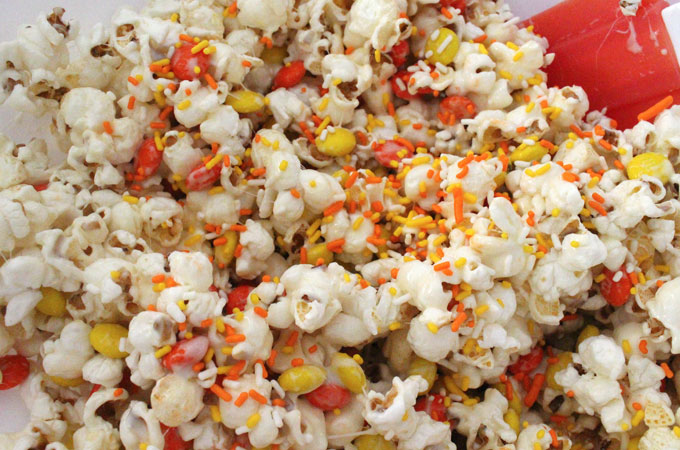 Add sprinkles to the Popcorn Mixture