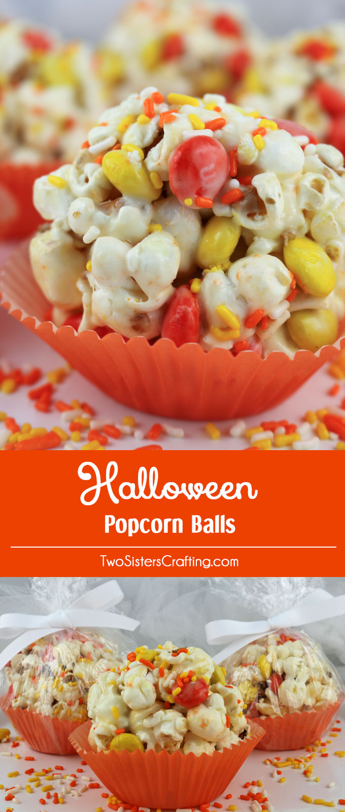 Halloween Popcorn Balls - sweet and salty popcorn, covered with ...