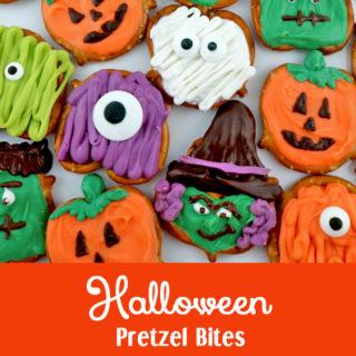 Halloween Pretzel Bites