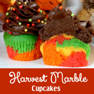 Harvest Marble Cupcakes