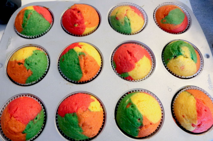 Bake Harvest Marble Cupcakes
