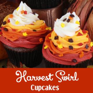 Harvest Swirl Cupcakes