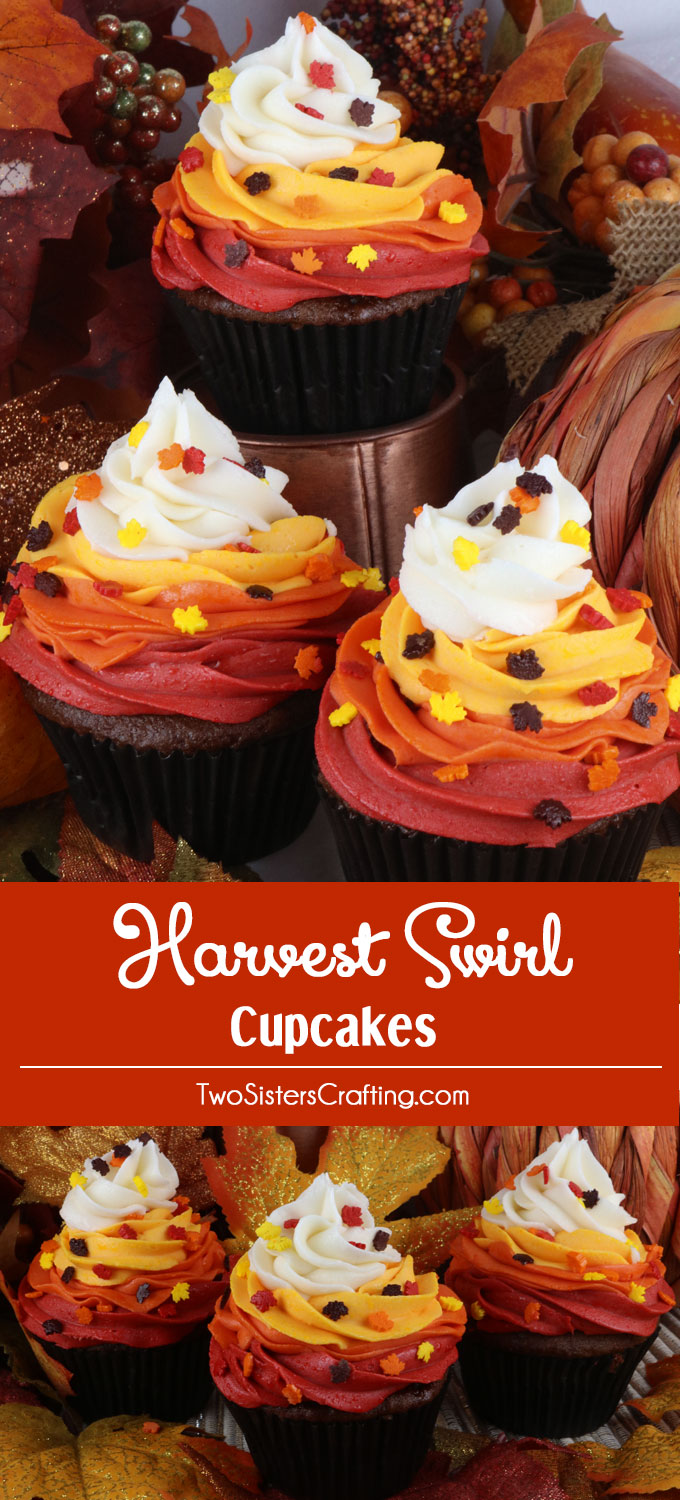Harvest Swirl Cupcakes Two Sisters