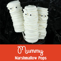 Mummy Marshmallow Pops