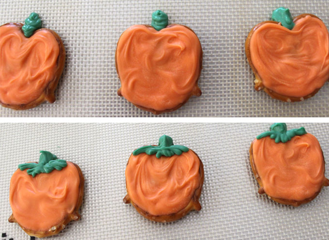 Add a green candy melt pumpkin stem