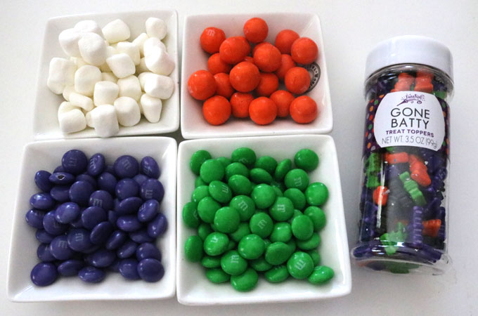 Candy mix-ins for the Trick or Treat Halloween Popcorn