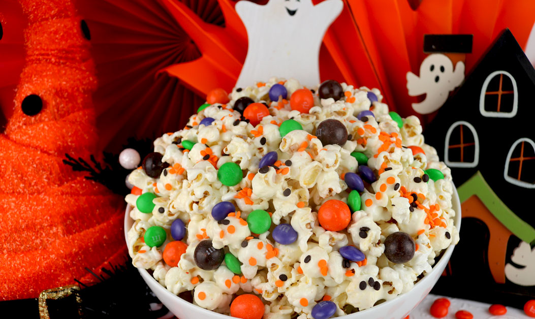 Trick or Treat Halloween Popcorn - Two Sisters