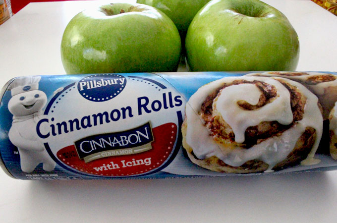 Ingredients for Apple Cinnamon Rolls