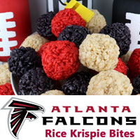 Atlanta Falcons Rice Krispie Bites