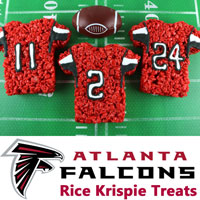 Atlanta Falcons Rice Krispie Treats