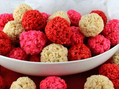 Be My Valentine Rice Krispie Bites