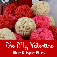 Be My Valentine Rice Krispie Bites