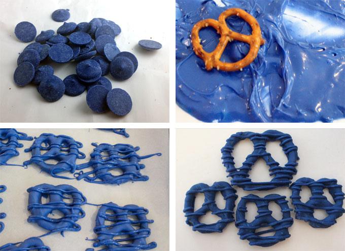How to Make Blue Football Pretzels