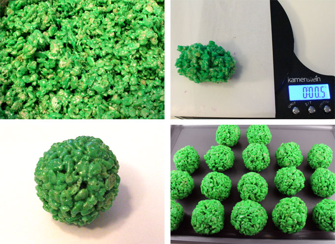 How to Make Green Rice Krispie Bites