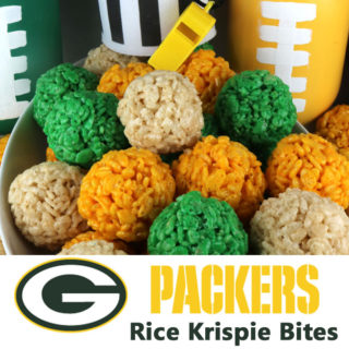 Green Bay Packers Rice Krispie Bites